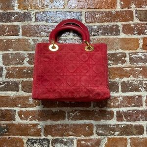 Christian Dior Red Suede Purse